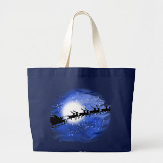Santa at Night Large Tote Bag