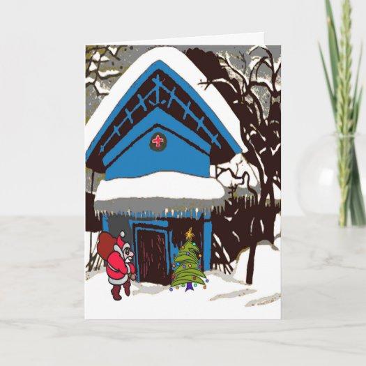 Santa At Swiss Chalet Christmas cards