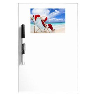 Santa At The Beach Dry Erase Whiteboards