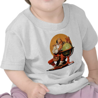 Santa at the Globe Tshirt