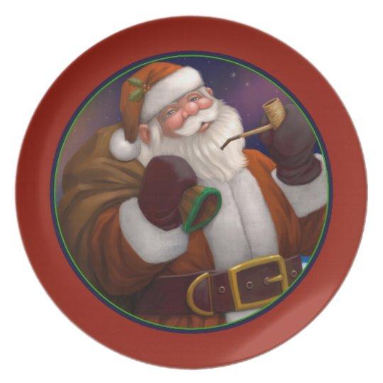 Santa at the North Pole Holiday Plate