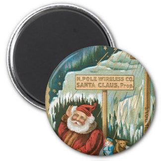 Santa at the North Pole Magnet