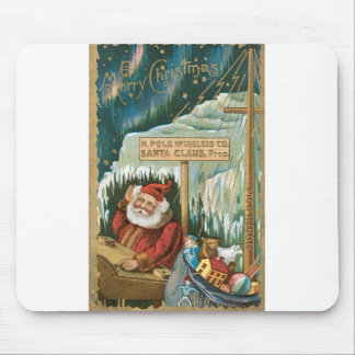 Santa at the North Pole Mousepad