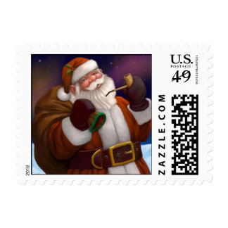 Santa at the North Pole Postage Stamp
