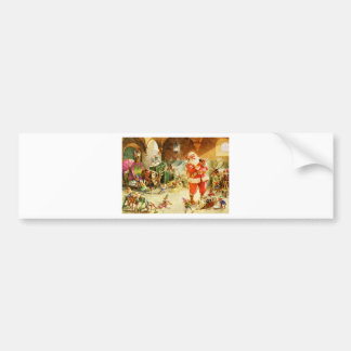 Santa At The North Pole Reindeer Stables Bumper Sticker