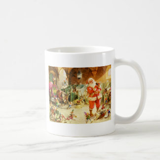 Santa At The North Pole Reindeer Stables Coffee Mug