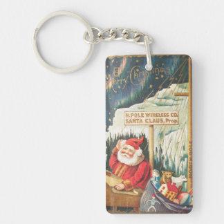 Santa at the North Pole Wireless Company Keychain