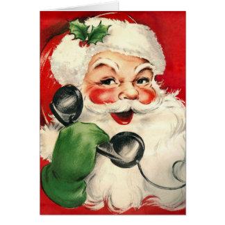 Santa at the Phone Card