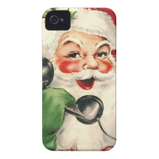 Santa at the Phone Case-Mate iPhone 4 Cases