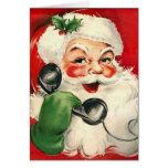 Santa at the Phone Greeting Cards