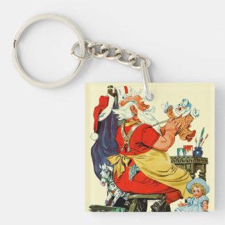 Santa at Work Keychain