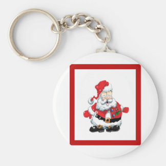 Santa ate to many cookies keychain