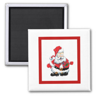 Santa ate too many cookies 2 inch square magnet