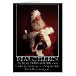 Santa ateo divertido tarjeton