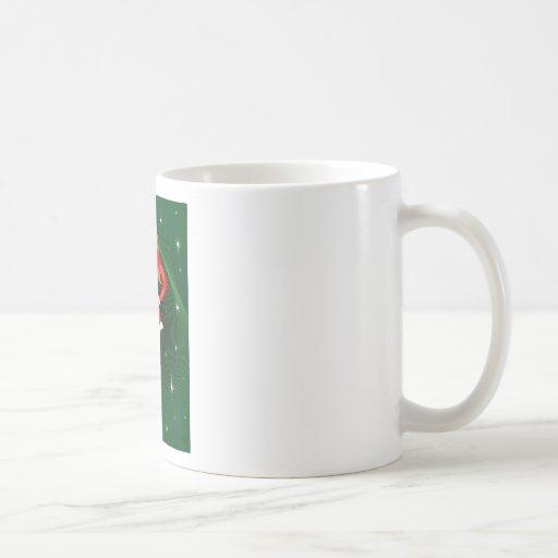 Santa atractivo taza de café