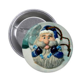 Santa azul I Pin Redondo De 2 Pulgadas