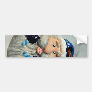 Santa azul II Pegatina Para Auto