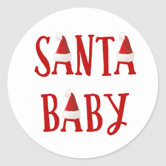 Santa Baby | Baby's First Christmas Sticker