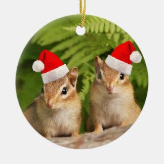 Santa Baby Chipmunks Double Sided Ornament