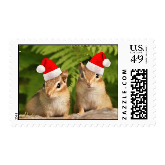 Santa Baby Chipmunks Postage