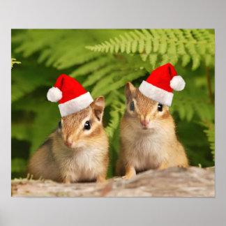 Santa baby chipmunks print