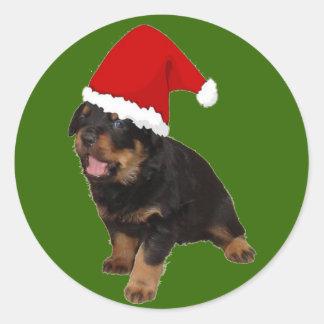 Santa Baby Classic Round Sticker