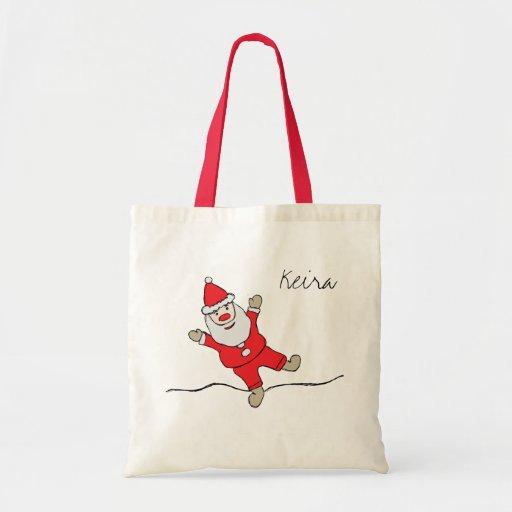 Santa Baby Custom Name Apron Budget Tote Bag