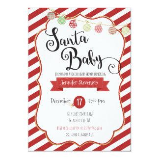 Santa Baby Holiday Baby Shower Invitation