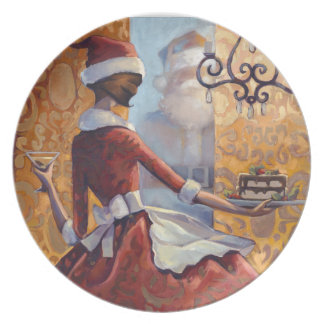 Santa Baby Party Plate