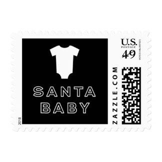"""""""Santa Baby"""" Stork Before Santa Holiday Stamps"""