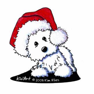 Santa Baby Westie Dog Acrylic Sculpture Photo Cutouts