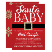 Santa Baby Winter Baby Shower Invitation