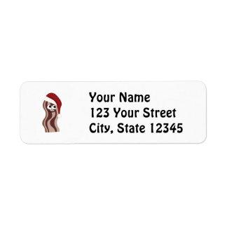 Santa Bacon Return Address Label