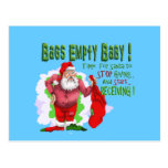 santa bags empty funny christmas cartoon post card