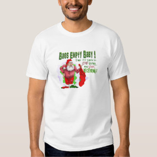 santa bags empty without frame t-shirt