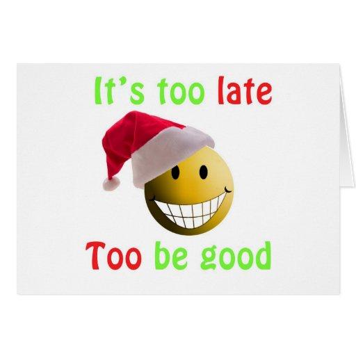 santa ball greeting card