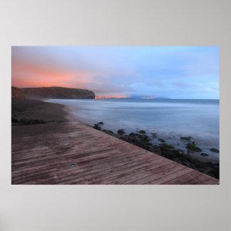 Santa Barbara beach Poster