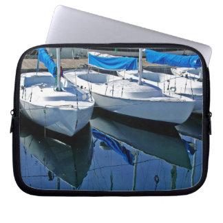 Santa Barbara Boats Seascape Laptop Sleeve