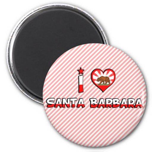 Santa Barbara, CA 2 Inch Round Magnet