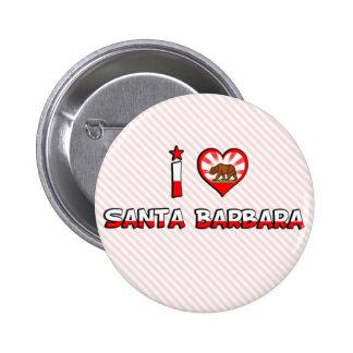 Santa Barbara, CA Pin Redondo De 2 Pulgadas