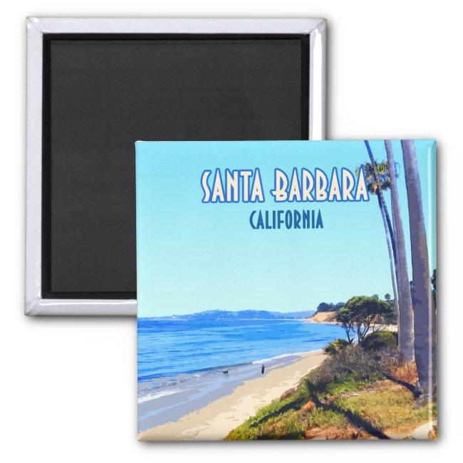 Santa Barbara California Butterfly Beach Montecito Magnet