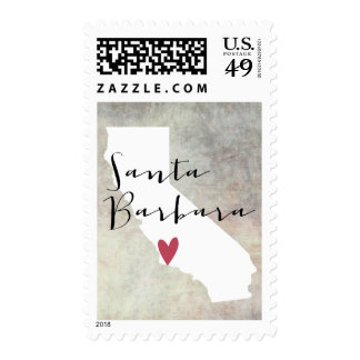 Santa Barbara, California CA postage stamp