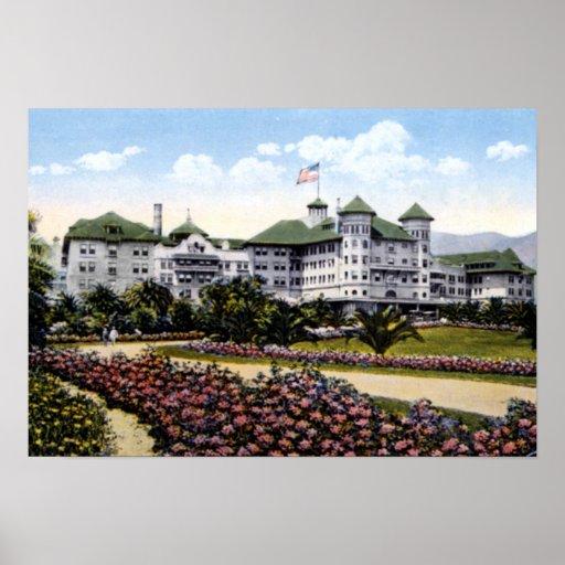 Santa Barbara California el hotel 1910 del alfarer Póster