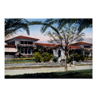Santa Barbara California El Mirasol Hotel Print