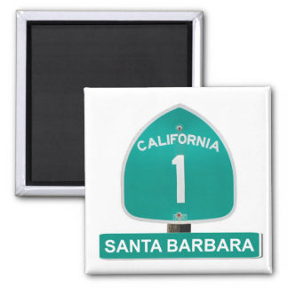 Santa Barbara, California Highway 1 Magnet