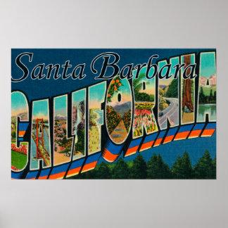 Santa Barbara, CaliforniaLarge Letter Scenes Posters