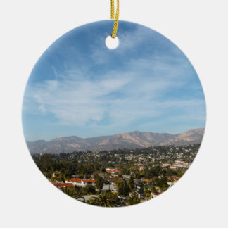 Santa Barbara Ceramic Ornament