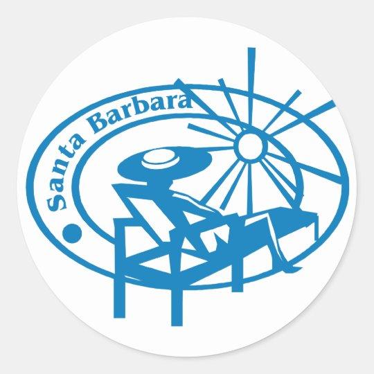 Santa Barbara Classic Round Sticker