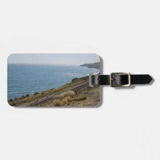 Santa Barbara Coastline with Railroad Tracks Bag Tag