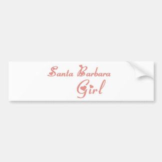 Santa Barbara Girl tee shirts Bumper Sticker